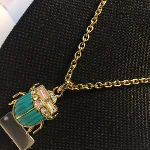 JUICY COUTURE Blue Scarab Necklace JY292713